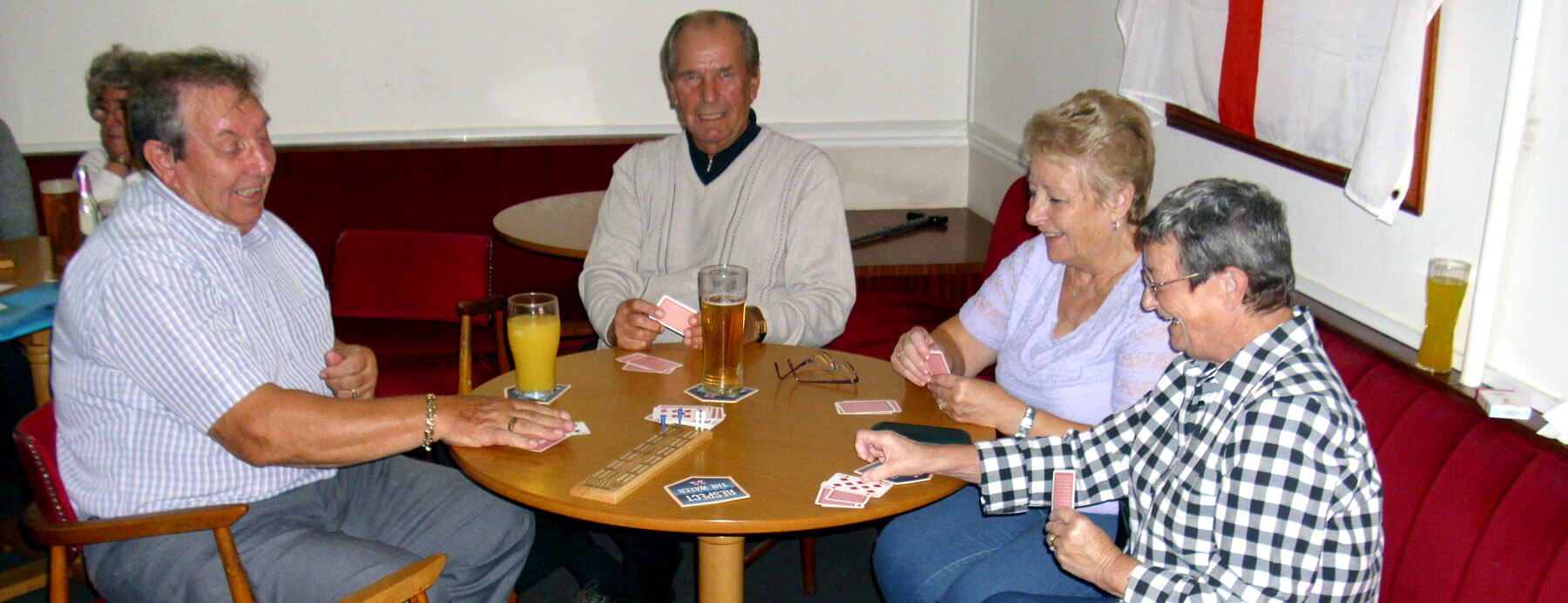 Club members playing a great card game
